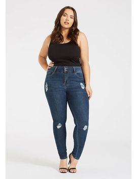 Plus Size Skinny Wide Waist Jean by Alloy
