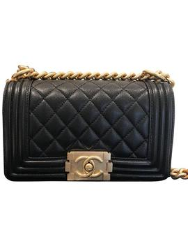 Boy Small Le Black Caviar Shoulder Bag by Chanel