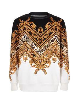 Zwart Chevron Sweatshirt Met Barokke Print Voor Jongens by River Island