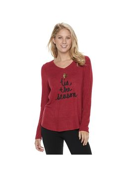 Women's Sonoma Goods For Life™ Supersoft V Neck Tee by Kohl's