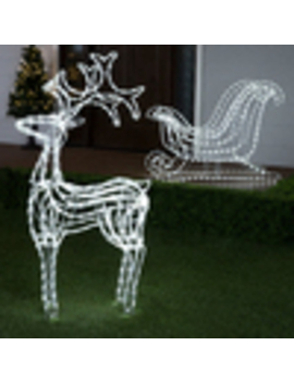 Ge 2 Pack Reindeer With White Led Lights by Lowe's