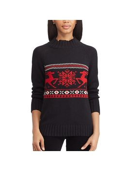 Women's Chaps Mockneck Ribbed Sweater by Kohl's