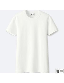 T Shirt Coton Col Rond Uniqlo U Femme by Uniqlo