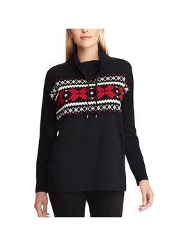 Women's Chaps Drawstring Turtleneck Sweatshirt by Kohl's