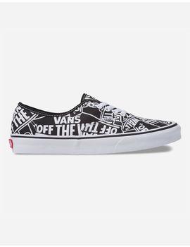 Vans Authentic Otw Repeat Black & True White Shoes by Vans