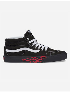 Vans Flame Cut Out Sk8 Mid Reissue Shoes by Vans