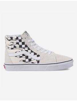 Vans Sk8 Hi Checker Flame Shoes by Vans