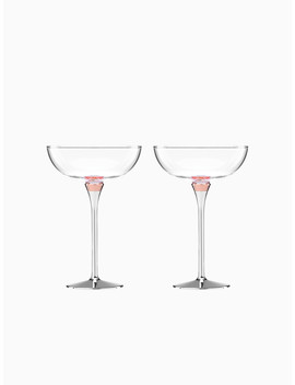 Rosy Glow Champagne Glasses by Kate Spade
