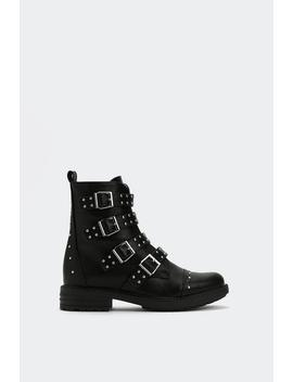 Where Have You Pin Studded Boot by Nasty Gal