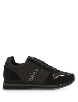 Black Fabric Quilted Logo Sneakers by Versace Jeans                                      Sold Out