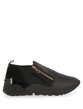 Black Fabric Zip Up Sneakers by Versace Jeans                                      Sold Out