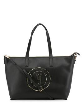 Black Embellished Shoulder Bag by Versace Jeans                                      Sold Out