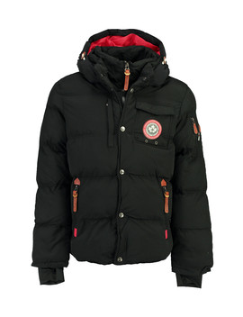 Viktor Black Padded Button Layer Coat by Canadian Peak