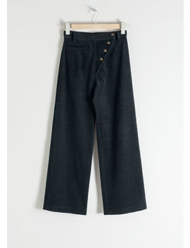High Waisted Corduroy Trousers by & Other Stories
