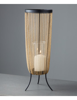 Cadena Gold Tone Tall Candle Holder by Native Home & Lifestyle                                      Sold Out