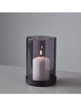 Black Tint Glass Candle Holder by Native Home & Lifestyle                                      Sold Out