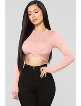All Wrapped Up Top   Mauve by Fashion Nova
