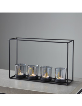 4 Black & Glass Candle Holder Frame by Native Home & Lifestyle                                      Sold Out