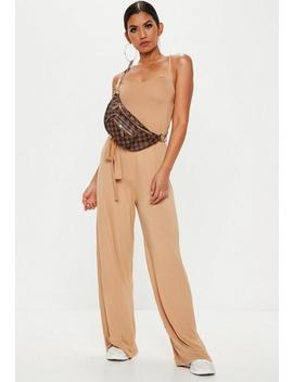 Nude Slouch Cami Wide Leg Jumpsuit by Missguided