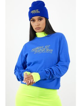 Girls Tour Racer Long Sleeve Royal Blue by Sorella