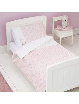 Pretty Little Bunny Cot Bed Duvet Cover And Pillowcase Set by Dunelm