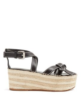 Gate Knotted Wedge Sandals by Loewe