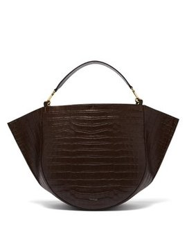 Mia Crocodile Effect Leather Tote Bag by Wandler