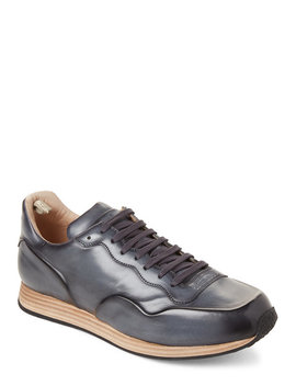 Navy Keino Polished Leather Low Top Sneakers by Officine Creative