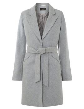 **Vero Moda Grey Long Sleeve Wool Coat by Dorothy Perkins