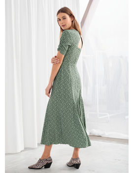 Open Back Floral Midi Dress by & Other Stories