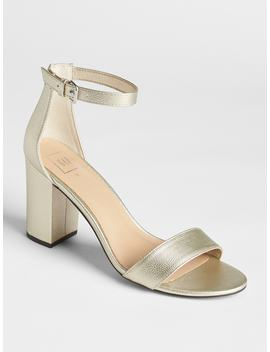 Metallic Block Heel Sandals by Gap