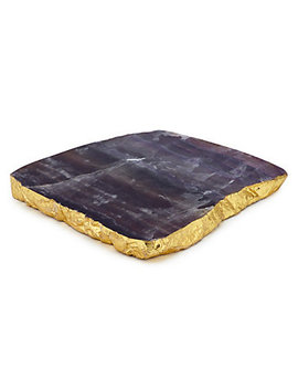 Fluorite Geode Serve Platter by Z Gallerie