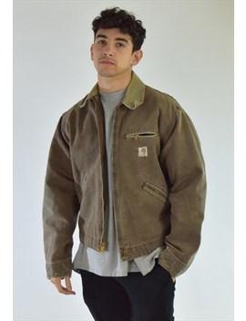 Vintage 90s Brown Carhartt Collared Workwear Jacket by Carhartt