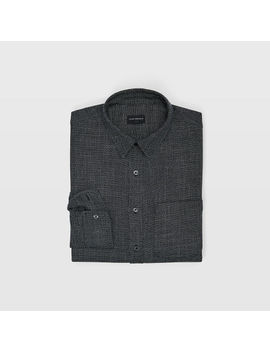 Slim Grid Texture Shirt by Club Monaco