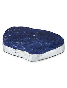 Sodalite Geode Serve Platter by Z Gallerie