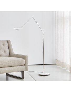 Humanscale ® Infinity Linen White Floor Lamp by Crate&Barrel