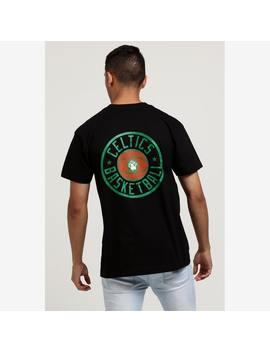 Mitchell & Ness Boston Celtics Full Circle Logo Ss Tee Black by Mitchell And Ness