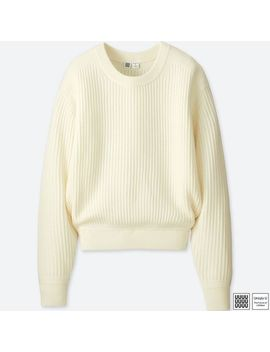 Women Uniqlo U Merino Blend Crew Neck Sweater by Uniqlo