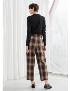 Tailored Plaid Trousers by & Other Stories