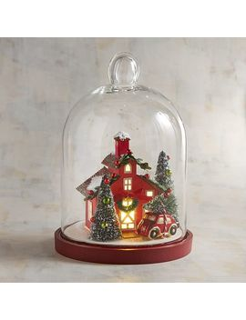 Led Light Up House In Glass Cloche by Pier1 Imports