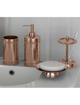 Rosdorf Park Nikolas Copper Hammered 4 Piece Bathroom Accessory Set & Reviews by Rosdorf Park