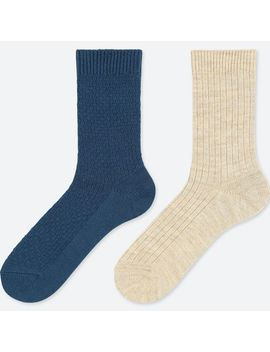 Women Heattech Socks 2 Pairs (Pique) by Uniqlo