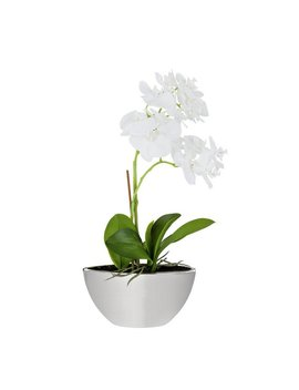 Large Orchid Artificial Arrangement In Mirrored Pot   Grey by Argos