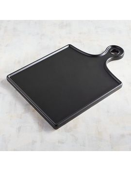 Black Ceramic Serving Board Paddle by Pier1 Imports