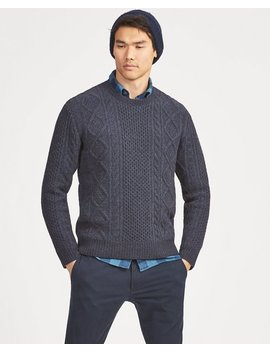 Aran Knit Wool Sweater by Ralph Lauren