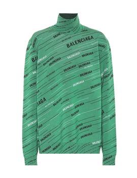 Printed Wool Blend Sweater by Balenciaga