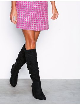 Drop Knee High Boot by Nly Shoes