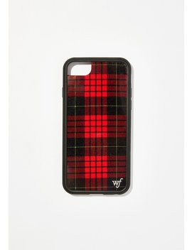 Red Plaid I Phone Case by Wildflower