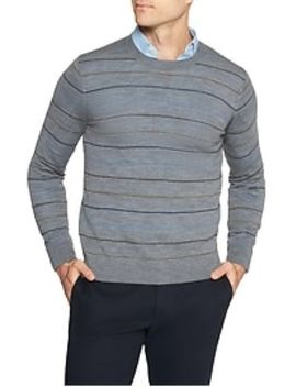 Stripe Merino Wool Pullover Sweater by Banana Republic Factory