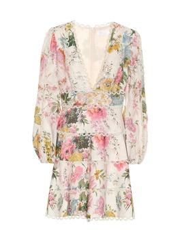 Heathers Floral Linen Dress by Zimmermann
